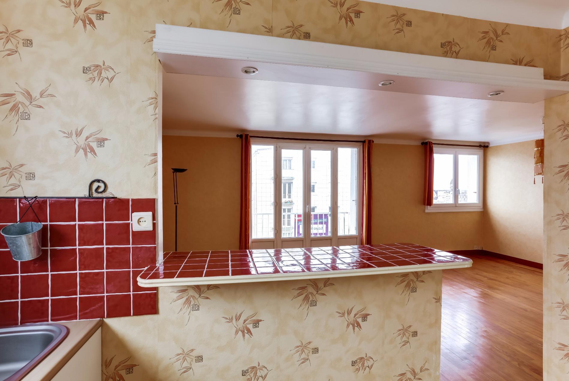 Appartement T2 Palais des Arts Vannes vue de la cuisine