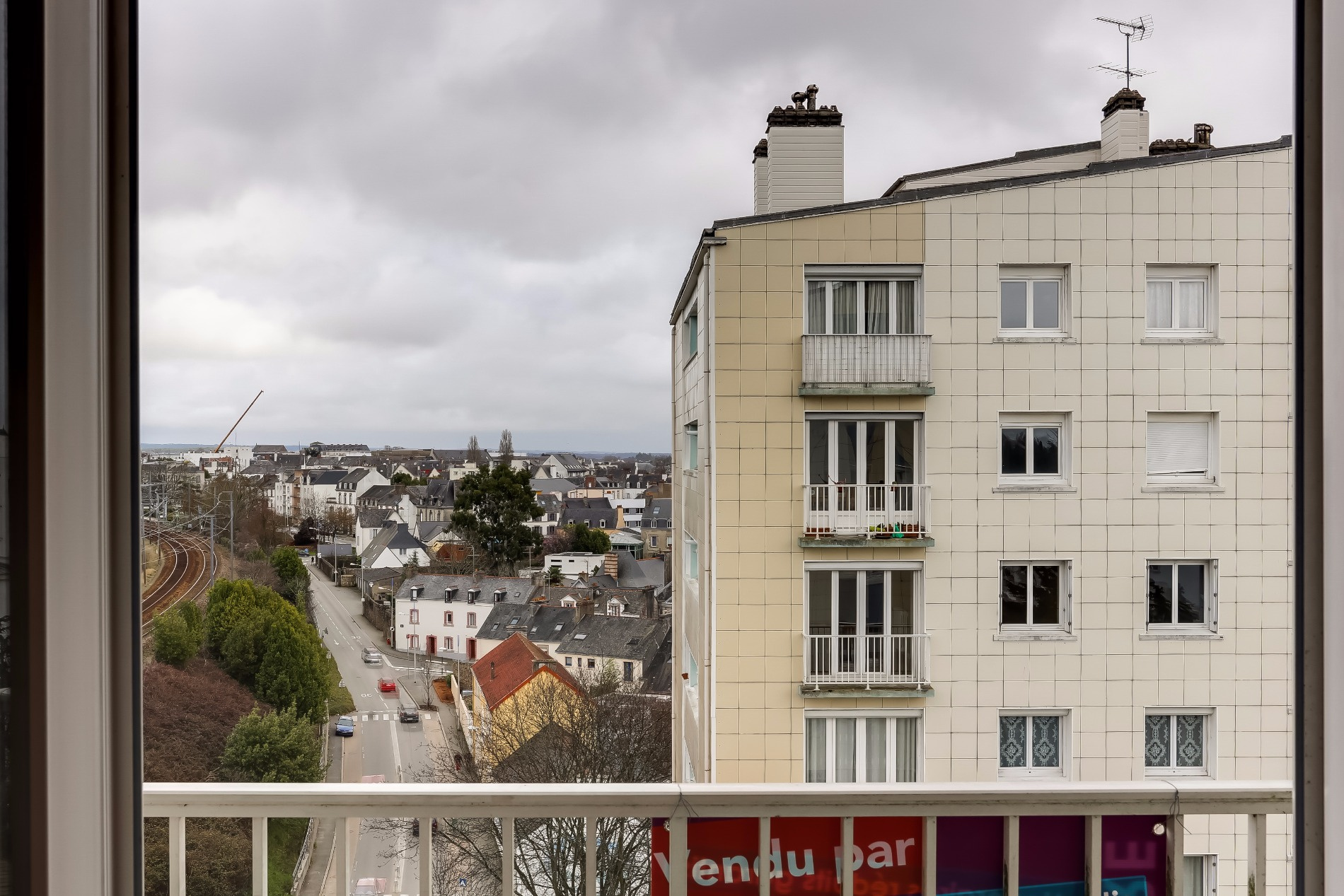 Appartement T2 Palais des Arts Vannes vue balcon